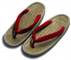 19th century Japanese straw sandals (zori))