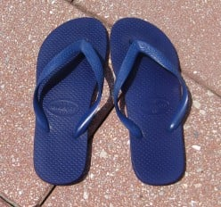 Havaianas, purchased in Brazil in 2002.