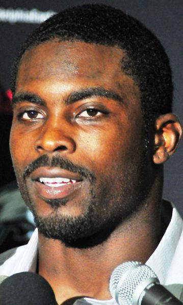 Vick after a playoff game in 2009.