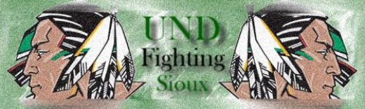 The mascot of UND