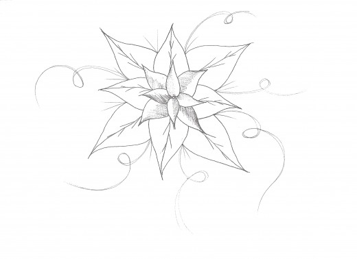How to draw a flower easy for How to draw a really good flower