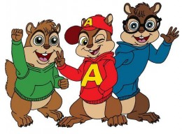 Alvin and the Chipmunks - Coloring Picture Color Sample