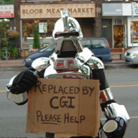 Unemployed robot ;-)