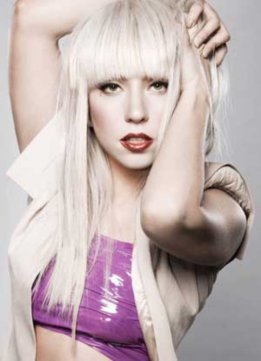 Lady Gaga - Blonde Poker Straight Hair