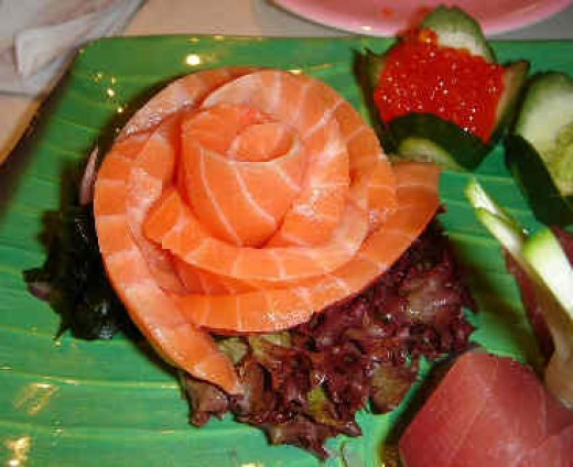 Salmon Rose Sashimi
