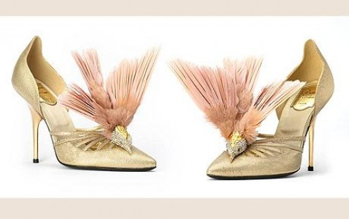 French fashion house Balmain released a pair 30,000 shoes by Roger Vivier. I believe there is a dead bird on this...