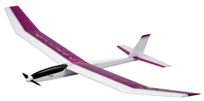 This is a radio controlled glider with a small electric motor for gaining hight and control.