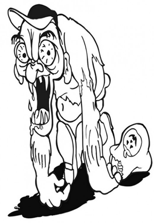 Halloween Zombie Coloring-Pages Colouring Pictures Print ...