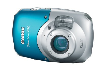 Canon D10. A 2009 model is preferred because of it's big buttons and high quality images.