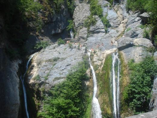 Cascade de l'ucelluline à San Nicolao, Corsica, France