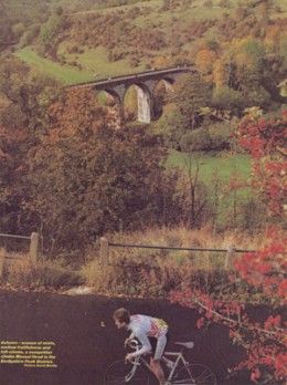 An extract from Cycling Weekly October 1990 showing the Viaduct in the distance