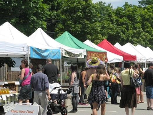 Another view of the Trout Lake Farmers Market