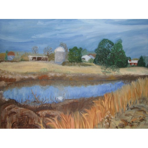 Our old ranch and farm, painted by Y.L. Bordelon (me).