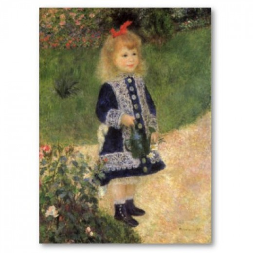 Pierre-Auguste Renoir, Girl with a Watering Can