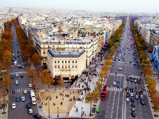 The famous Champs Elysees