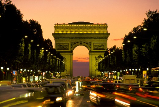 Another view of Arc de Triomphe from Champs Elysees