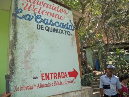 Entrance to the Quimixto Water Fall.