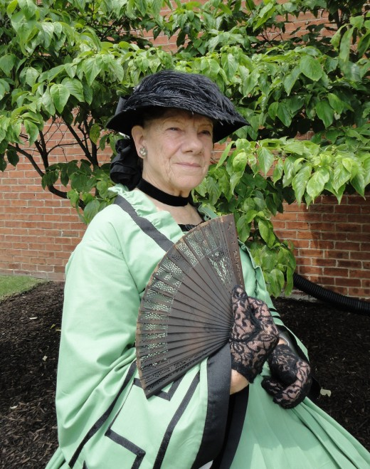 "Image of Rose O'Neale Greenhow as portrayed by E. L. ""Eddy"" O'Malley of Cape May, N.J.  Ms. O'Malley  is a living historian, educator, seminar/conference speaker, and re-enactor.  She is also a member of the Civil War Heritage Foundation."