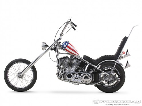"Capt. America chopper from the film ""Easy Rider"""