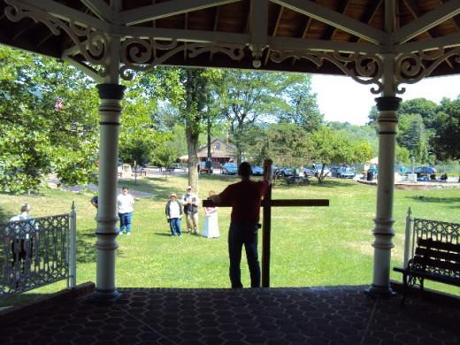 Street preaching in Bellefonte park
