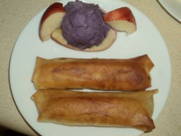 Banana Lumpia Dessert with Ube Ice Cream
