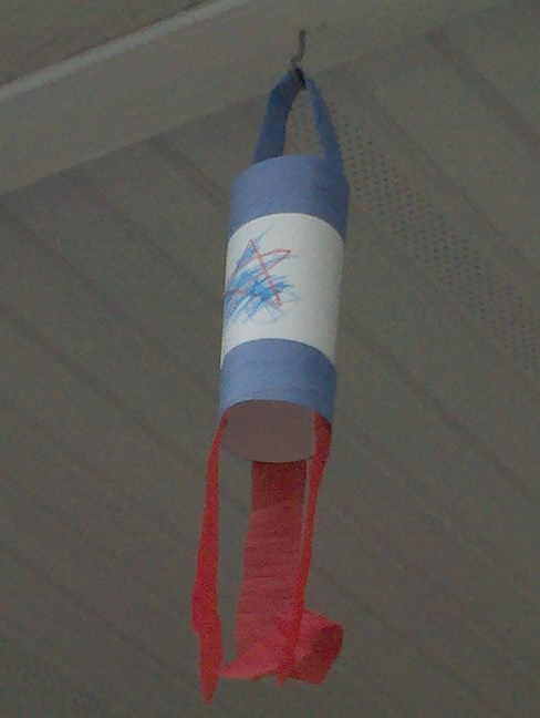 One of the windsocks hangs on our porch.