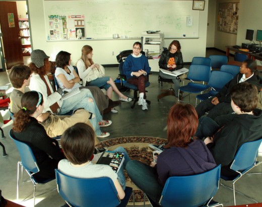 A creative writing class