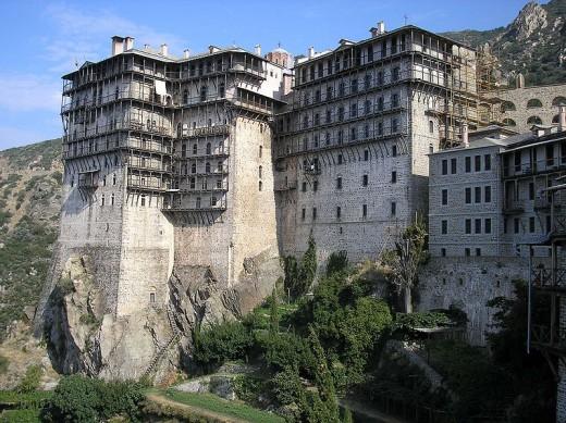 Simonpetra Monastery at Mount Athos, Greece.