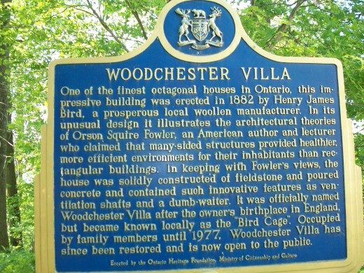 Historical panel, Woodchester Villa, Bracebridge