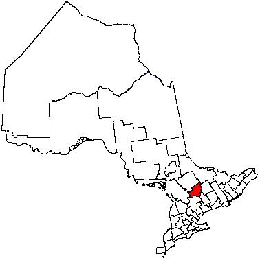 Map location of Muskoka District Municipality, Ontario