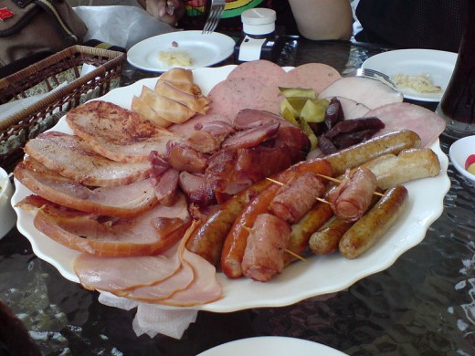 Cured German meats, Ham and sausages