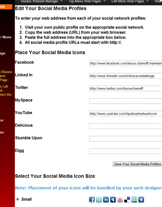Butane's social media editing screen