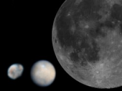 (from left) Vesta, Ceres and the Moon