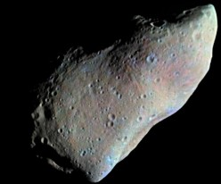 951 Gaspra, first asteroid photographed up close