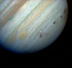 Bullet holes in Jupiter