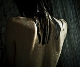 Never forgetting, hiding behind the curtain trying to wash him away