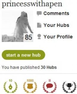 princesswithapen's HubPages profile
