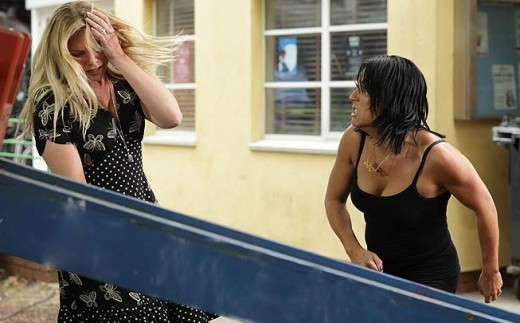 "and once Alfie has Tommy, Kat slaps her enemy and tells her to ""Rot in Jail"""