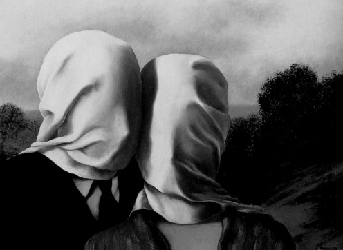Ren Magritte. The Lovers. 1928.  Oil on canvas. 54.2 x 73 cm