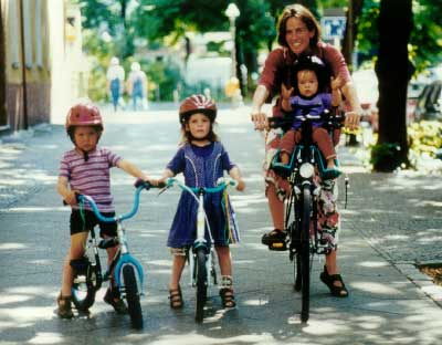 A family bike ride is fun for everyone.
