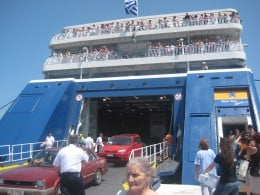 One of the ferries to Paros