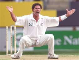 Chris Cairns almost begging for a wicket.
