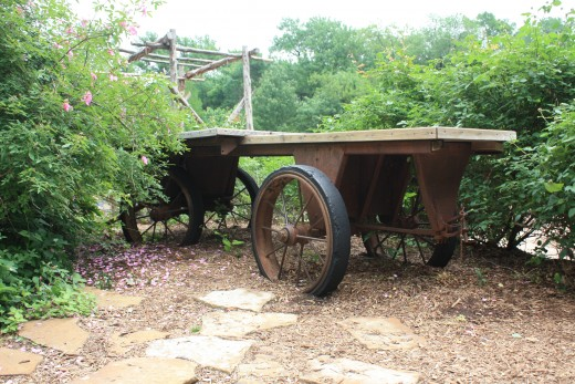 Old fashioned wooden wagon