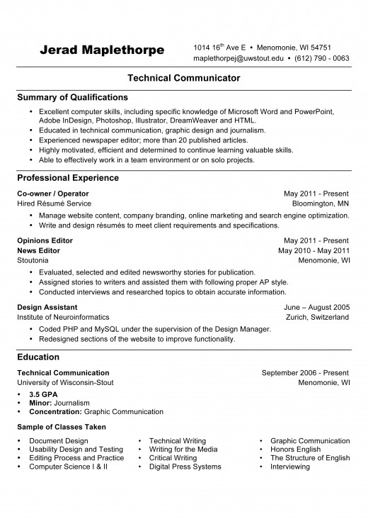 Résumé Writing: References Available Upon Request, Objective