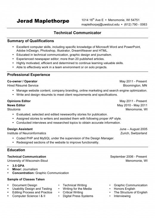 Résumé Writing References Available Upon Request