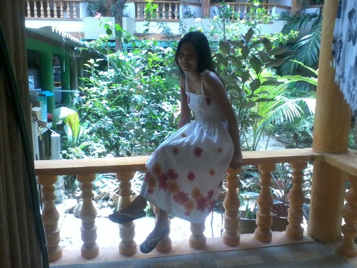 in the balcony