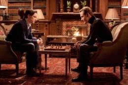 James McAvoy as Charles Xavier and Micheal Fassbender as Erik Lensherr