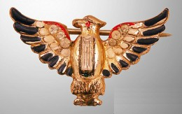Sterling Craft by Coro Patriotic Eagle Brooch, ca. 1940