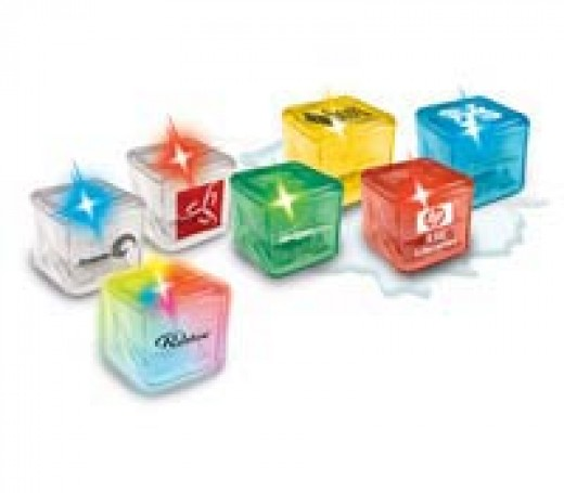 Light up ice cubes with your logo