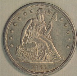 A brief history of the Seated Liberty silver dollar.